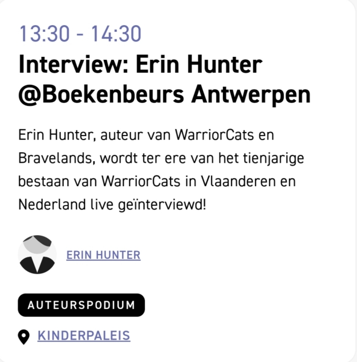 Warrior Cats 10 jaar - Boekenbeurs Antwerpen 3.jpg