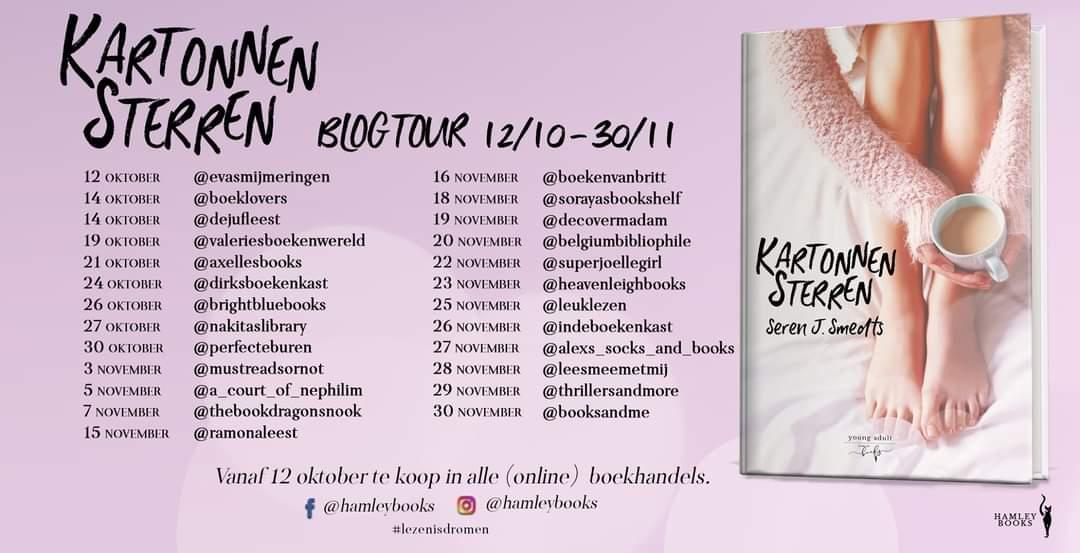 Kartonnen Sterren - Blogtour banner